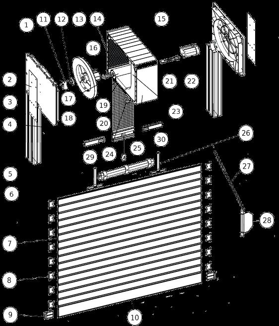 Roleta nadstawna cleverbox mini - przekrój