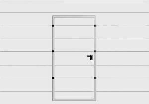 Panel z drzwiami serwisowymi