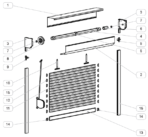 Roleta zewnętrzna standard - przekrój