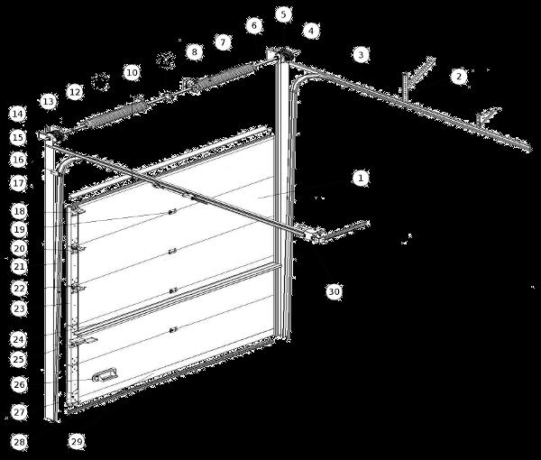 brama segmentowa - przekrój